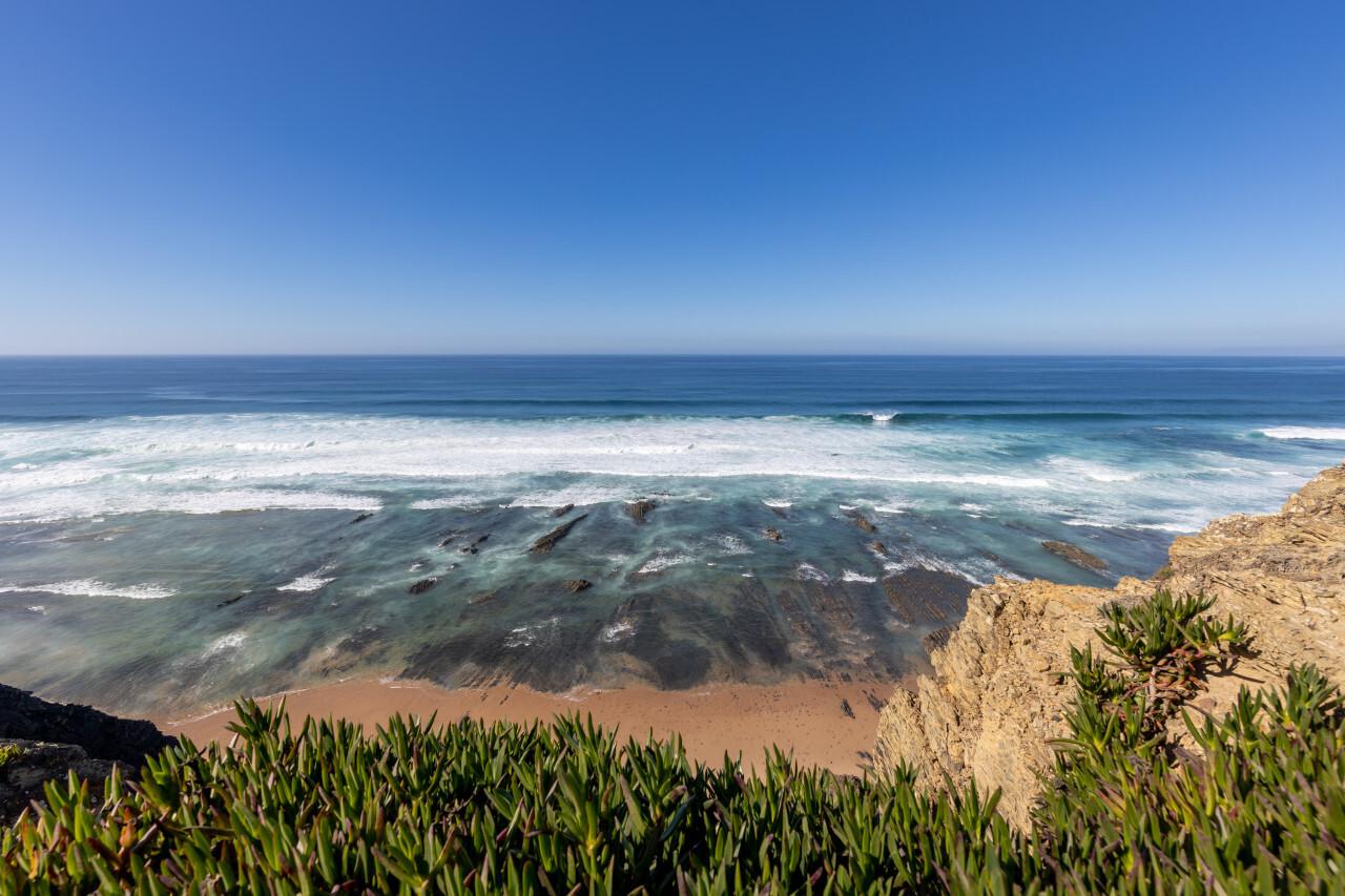 Praia de Monte Clerigo by Aljezur in Portugal Seascape