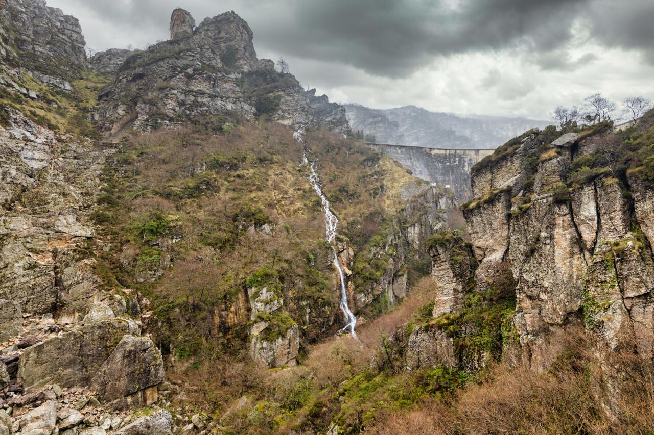 San Martin de Quevedo Landscape with waterfall