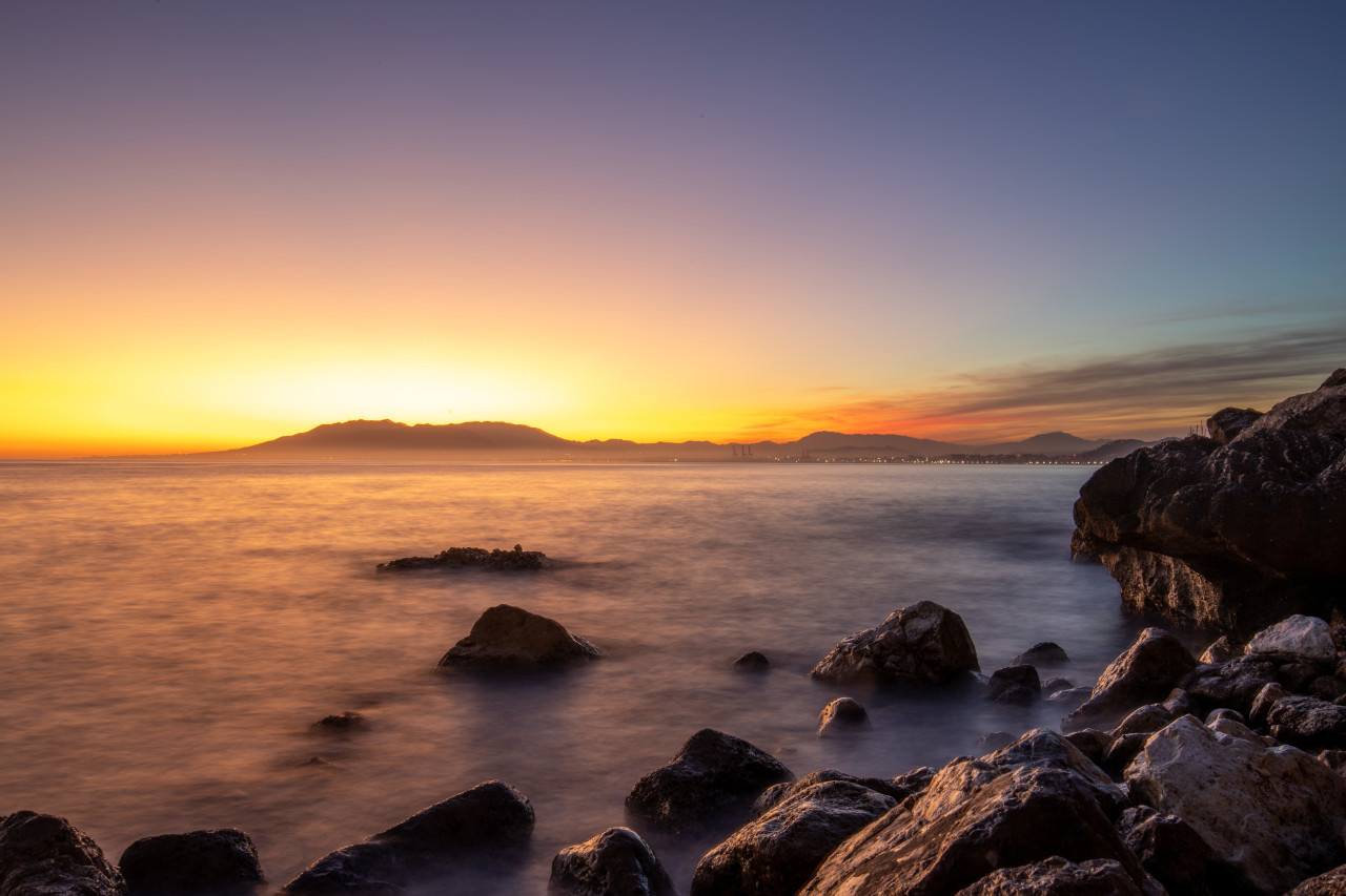 Sunset in Malaga by Spain