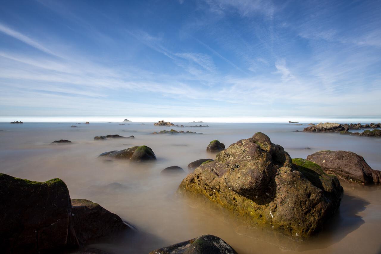Faro Portugal Rocks in the Sea Panorama