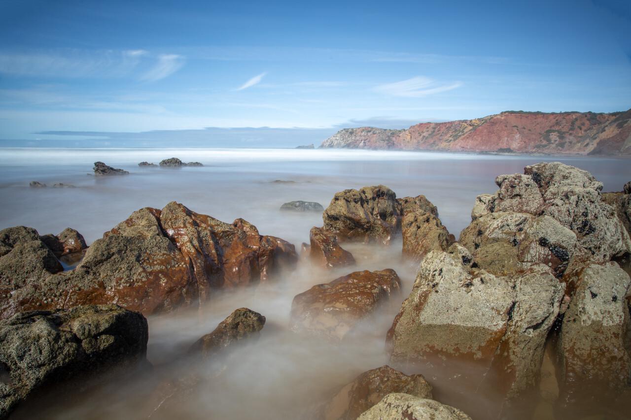 Portugals beautiful coast in Faro