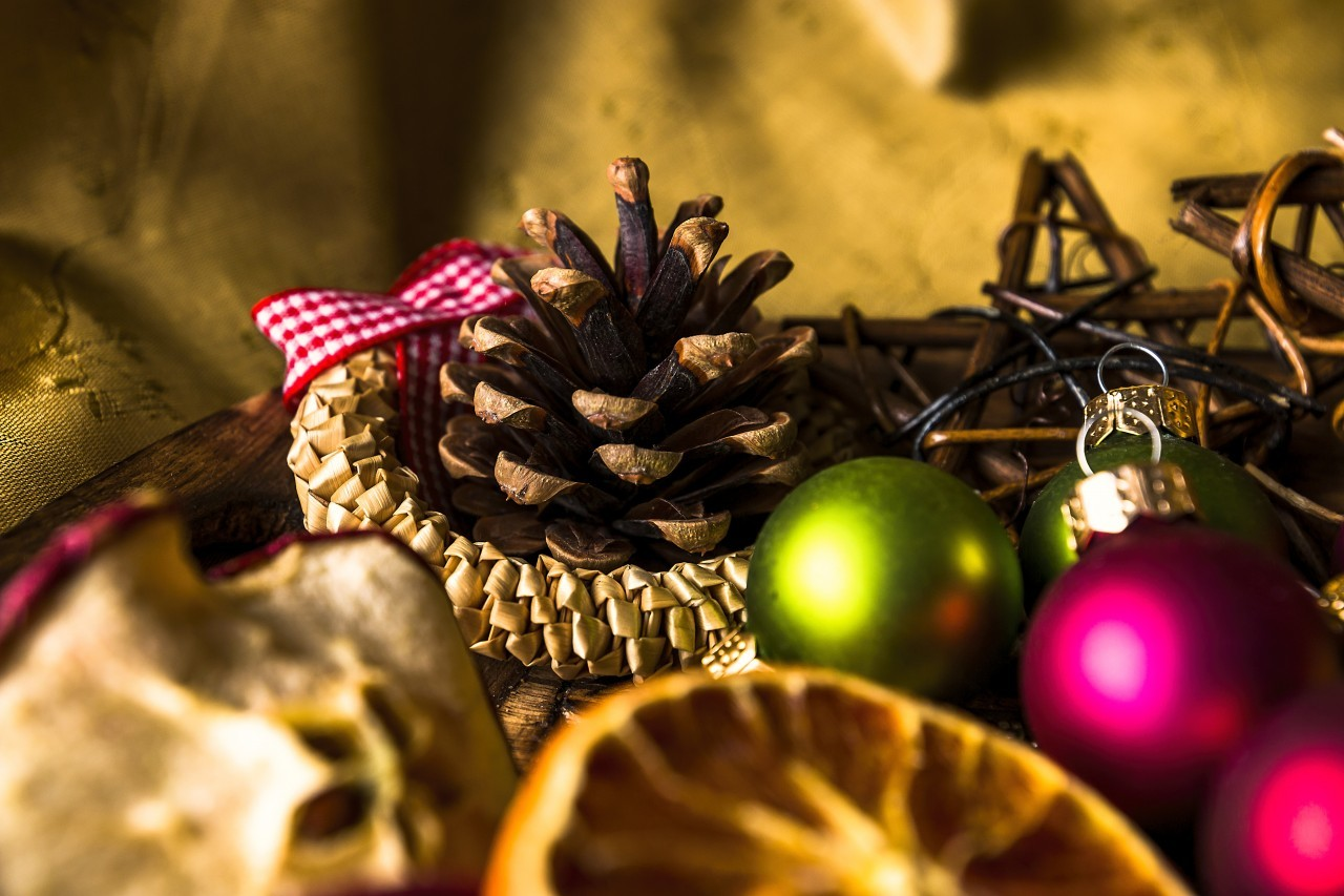 beautiful golden christmas decoration
