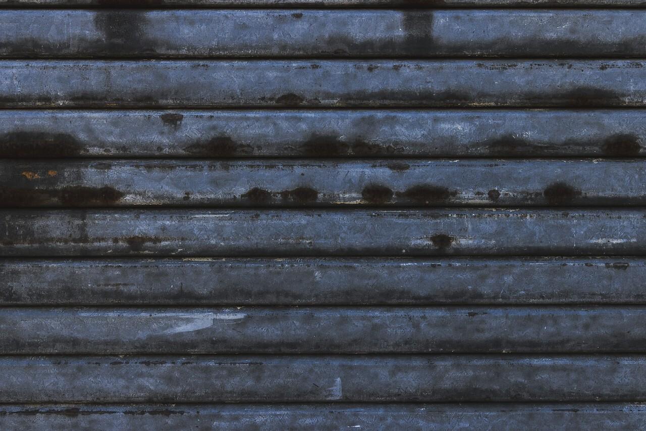 rusty metal shutters texture