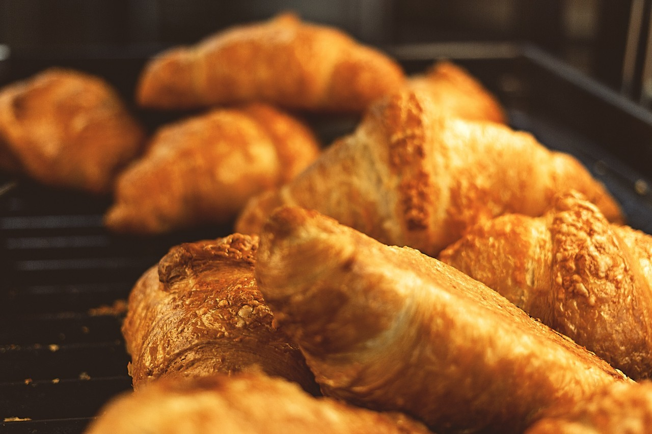 Croissants filled  with Ham and Cheese