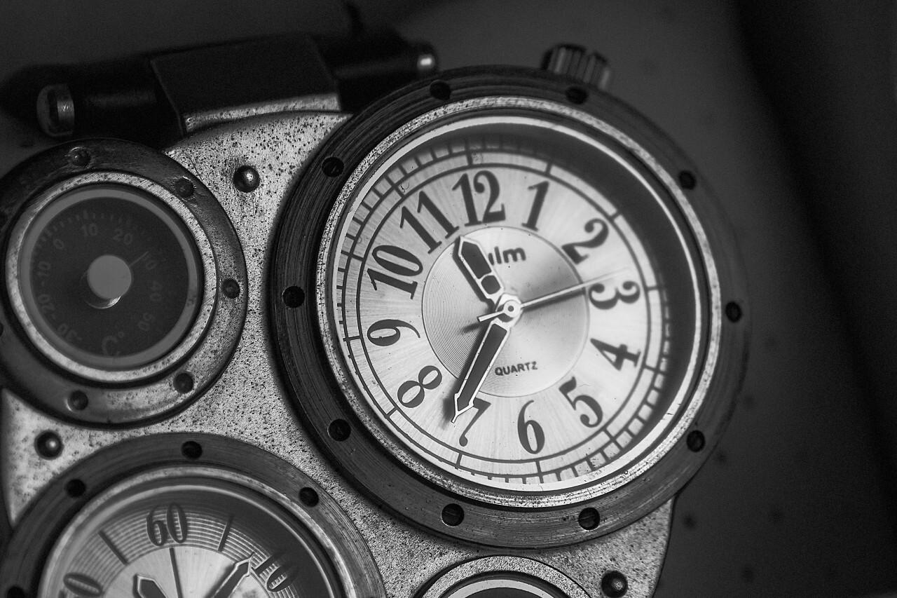old steampunk wristwatch