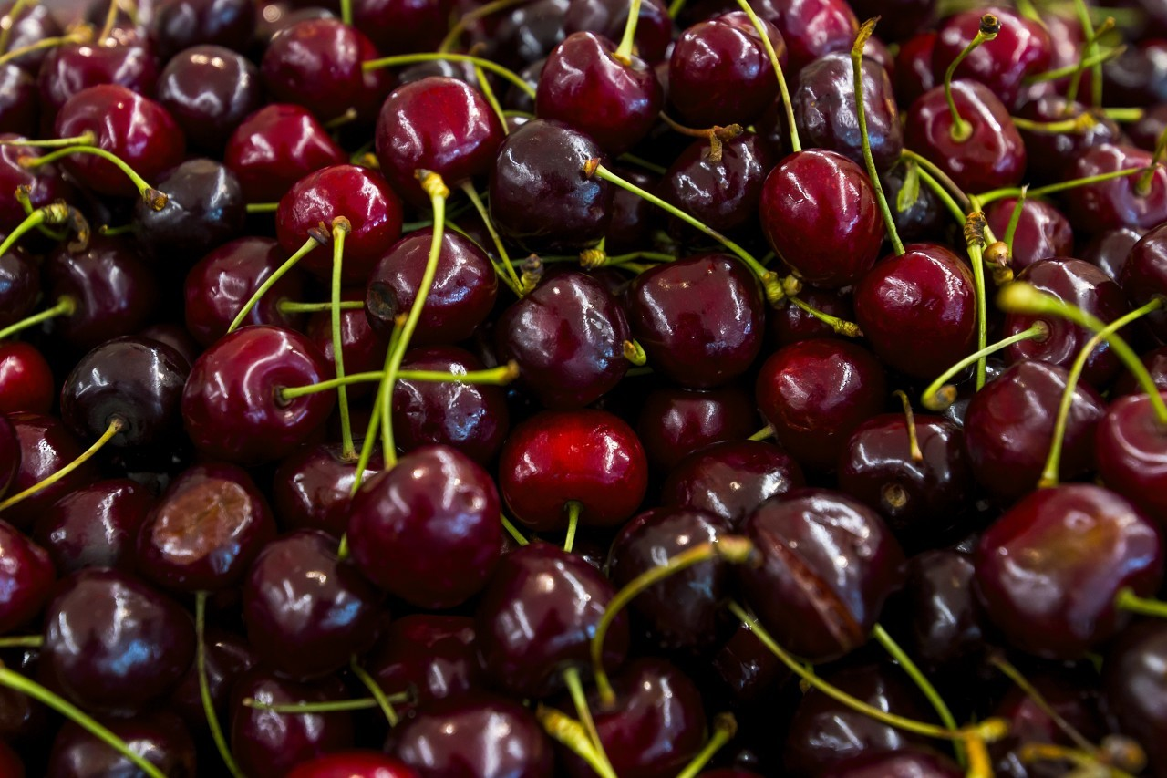 cherries from the market