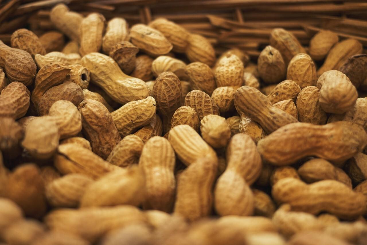 peanuts in a basket