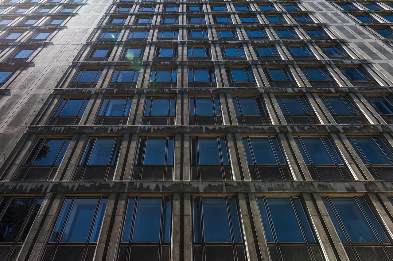 dirty skyscraper windows