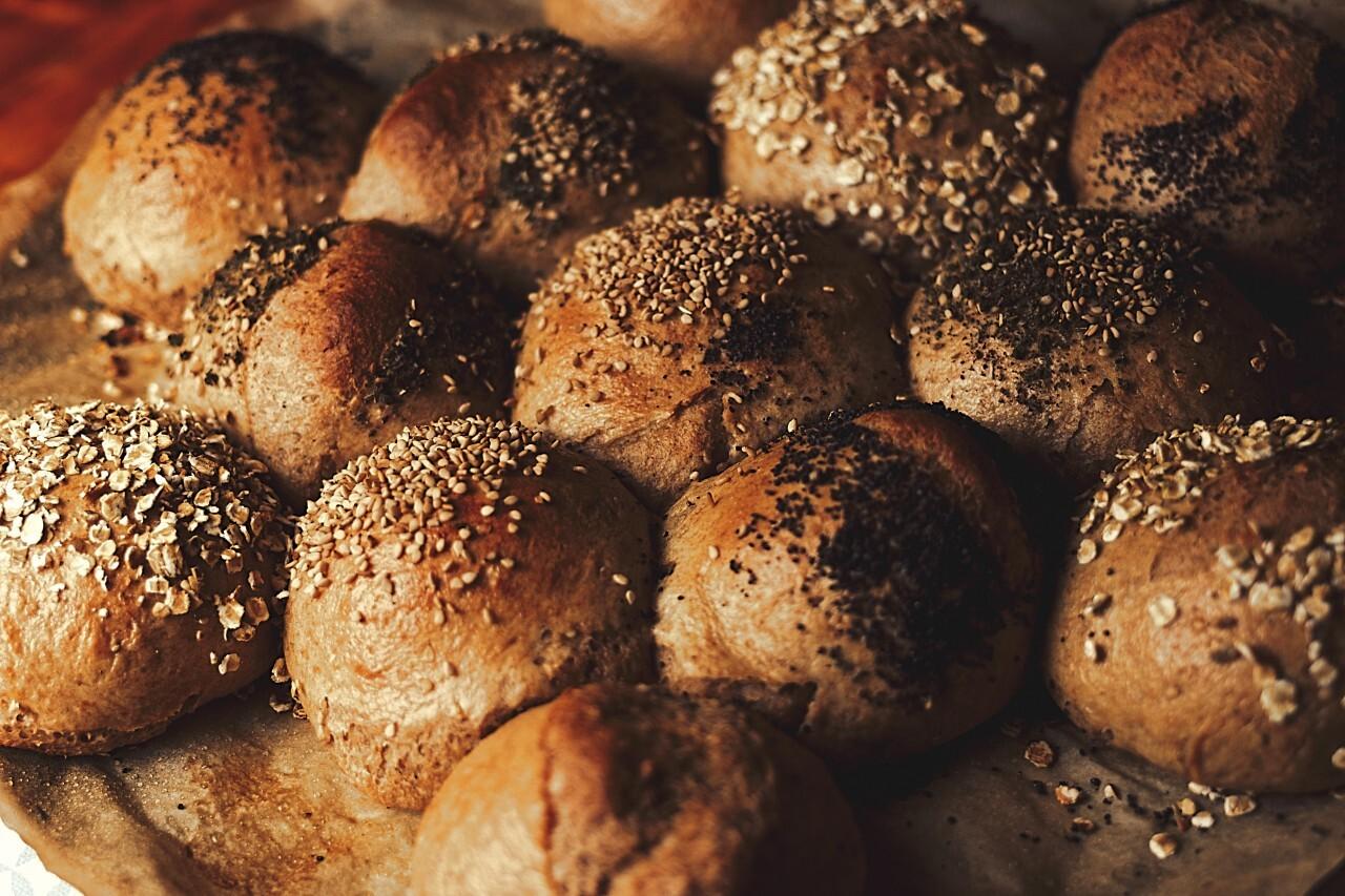 fresh baked homemade rolls