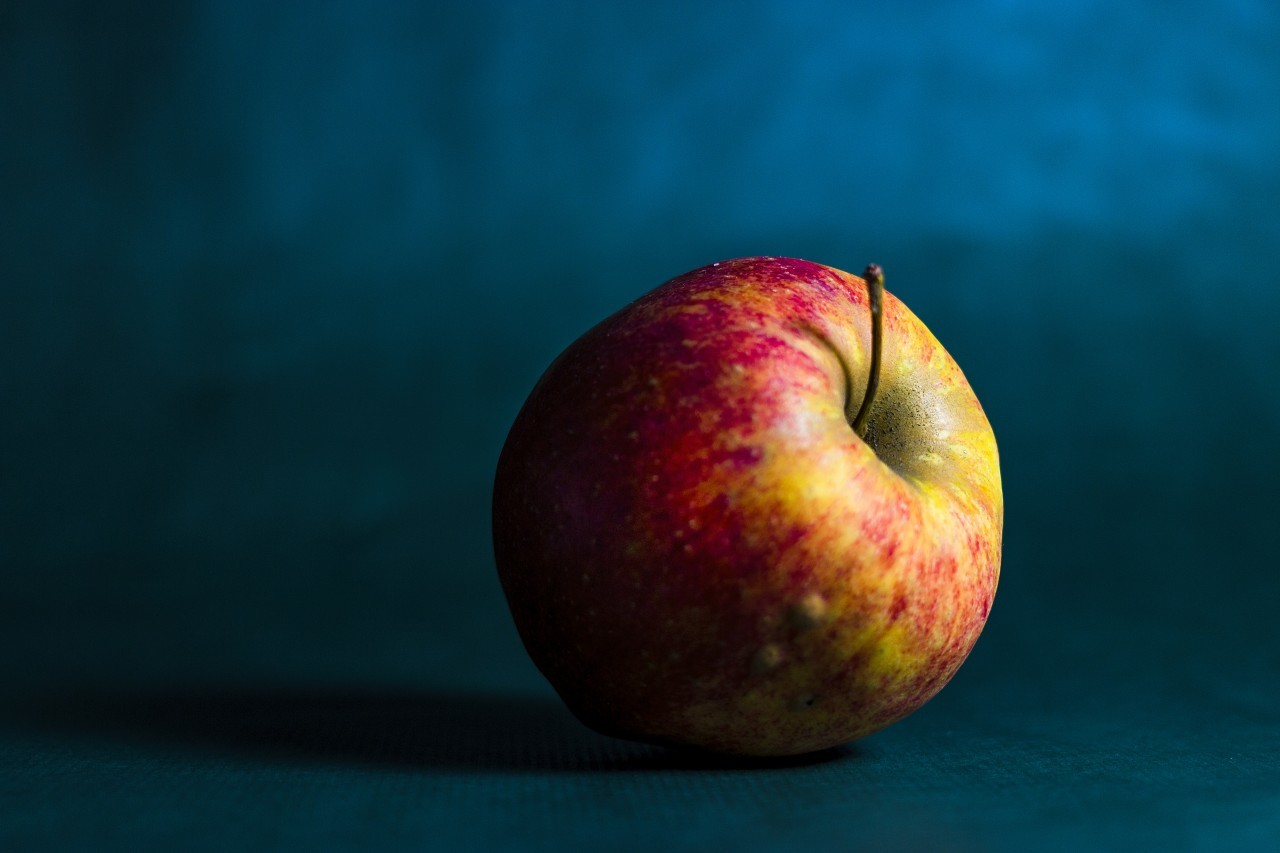 apple blue background