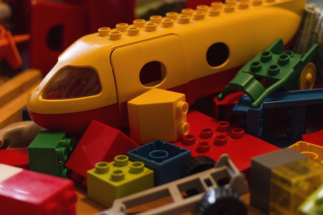 Children's building blocks in the children's room