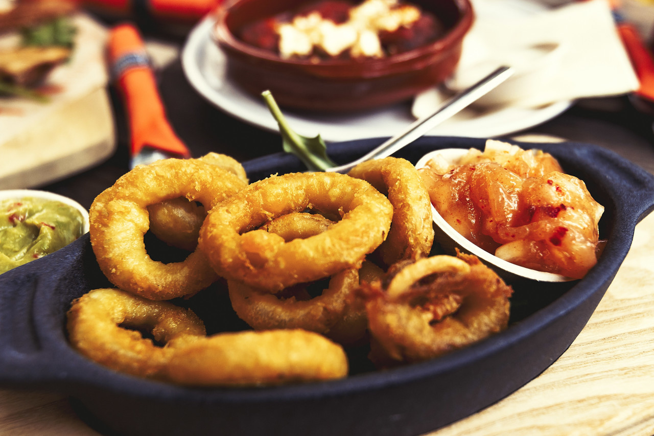 delicious deep fried squid rings
