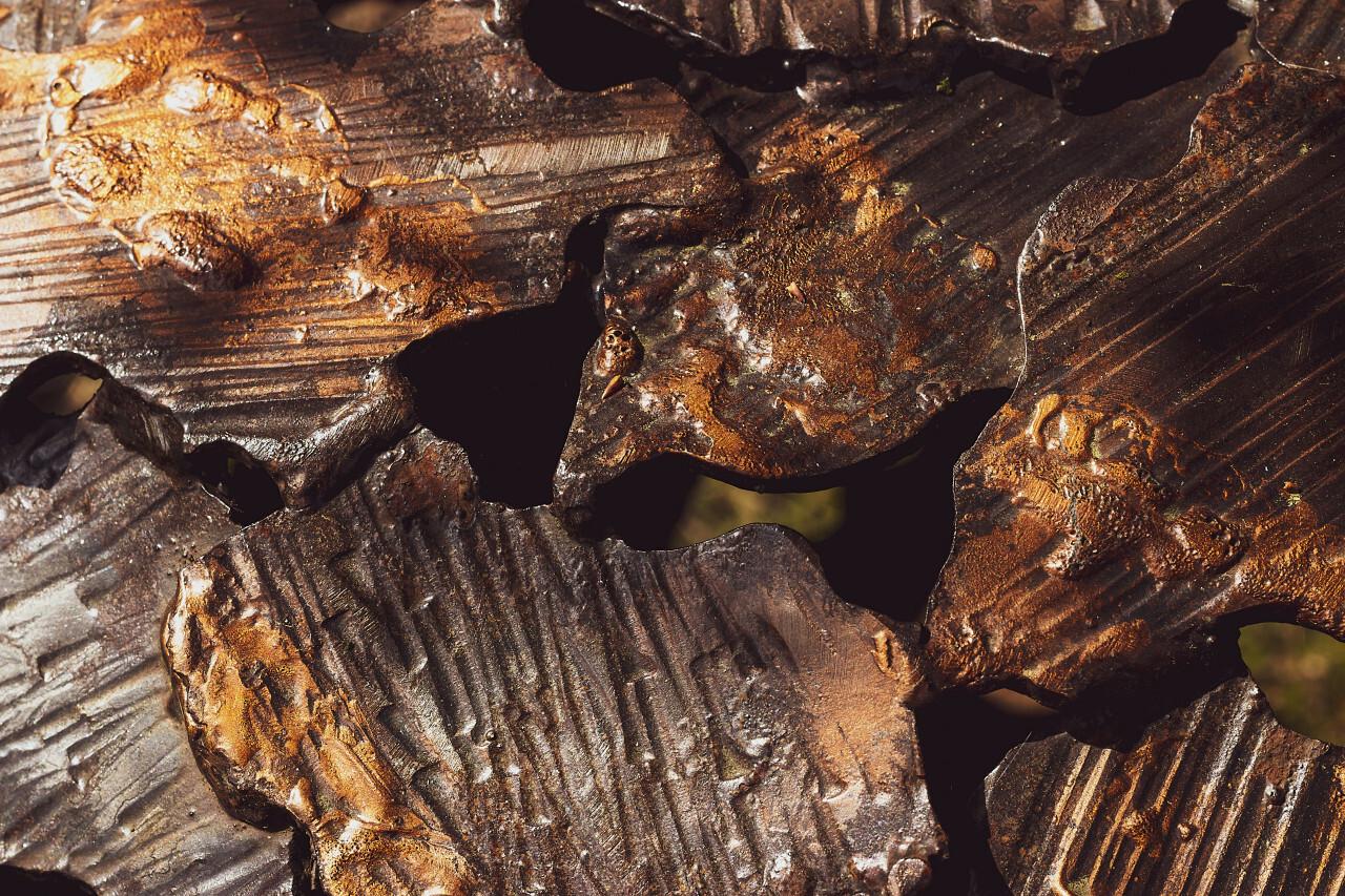 bronze shards texture