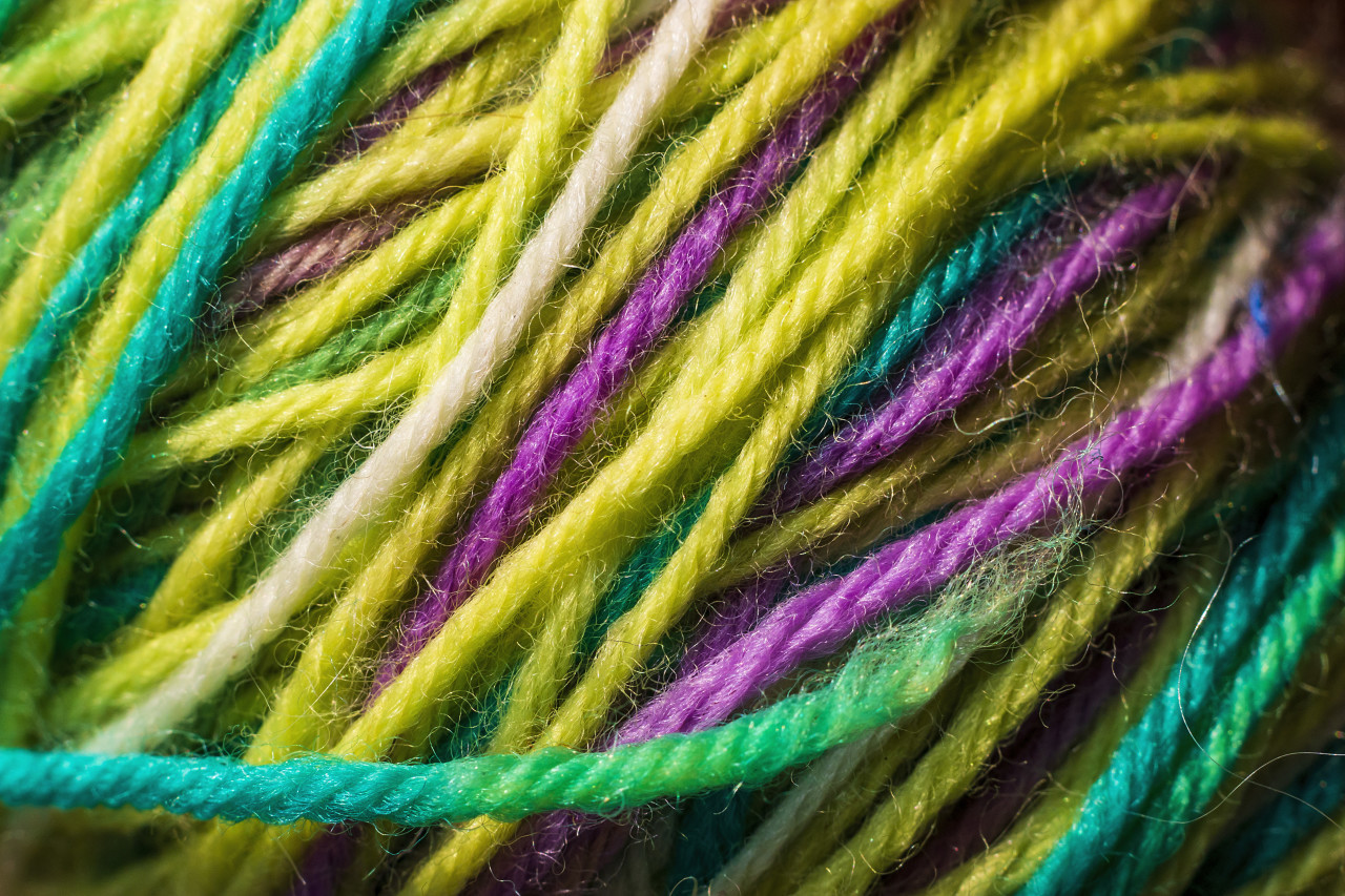 colorful wool background