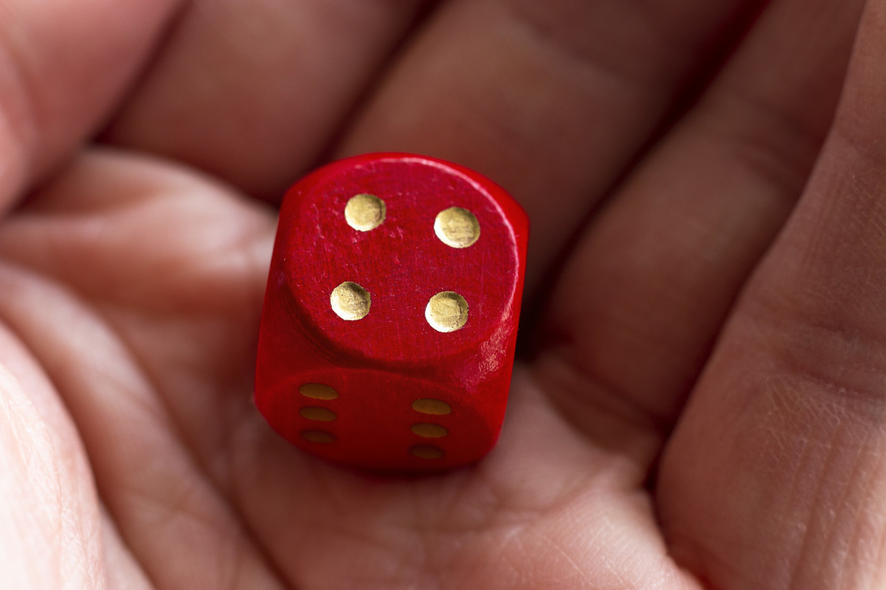 Roll the dice - four diced in hand