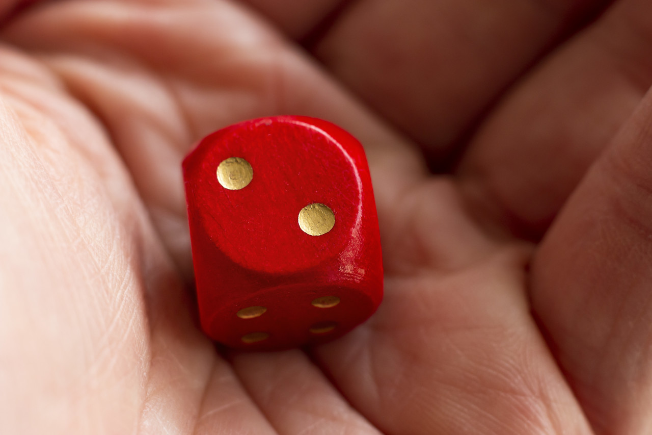 Roll the dice - two diced in hand