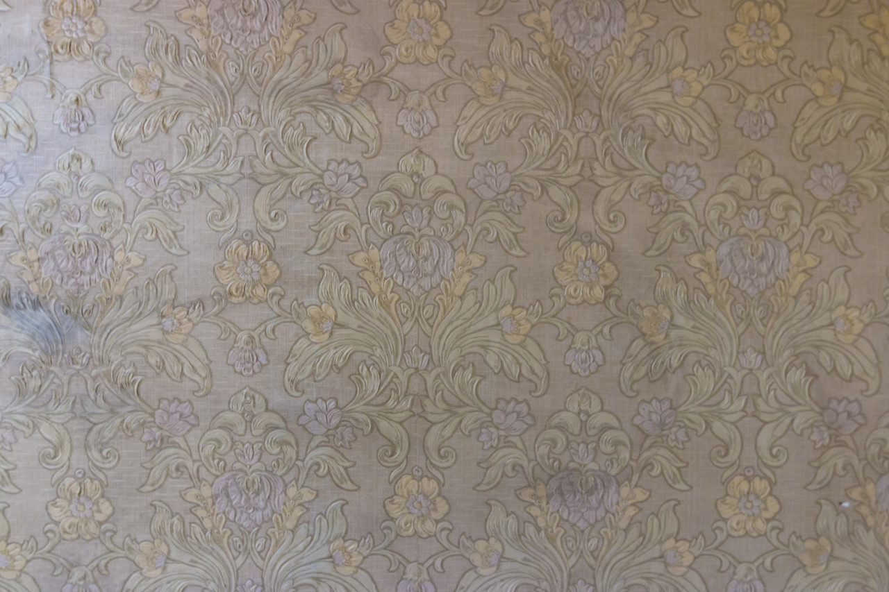 old yellowed vintage wallpaper texture