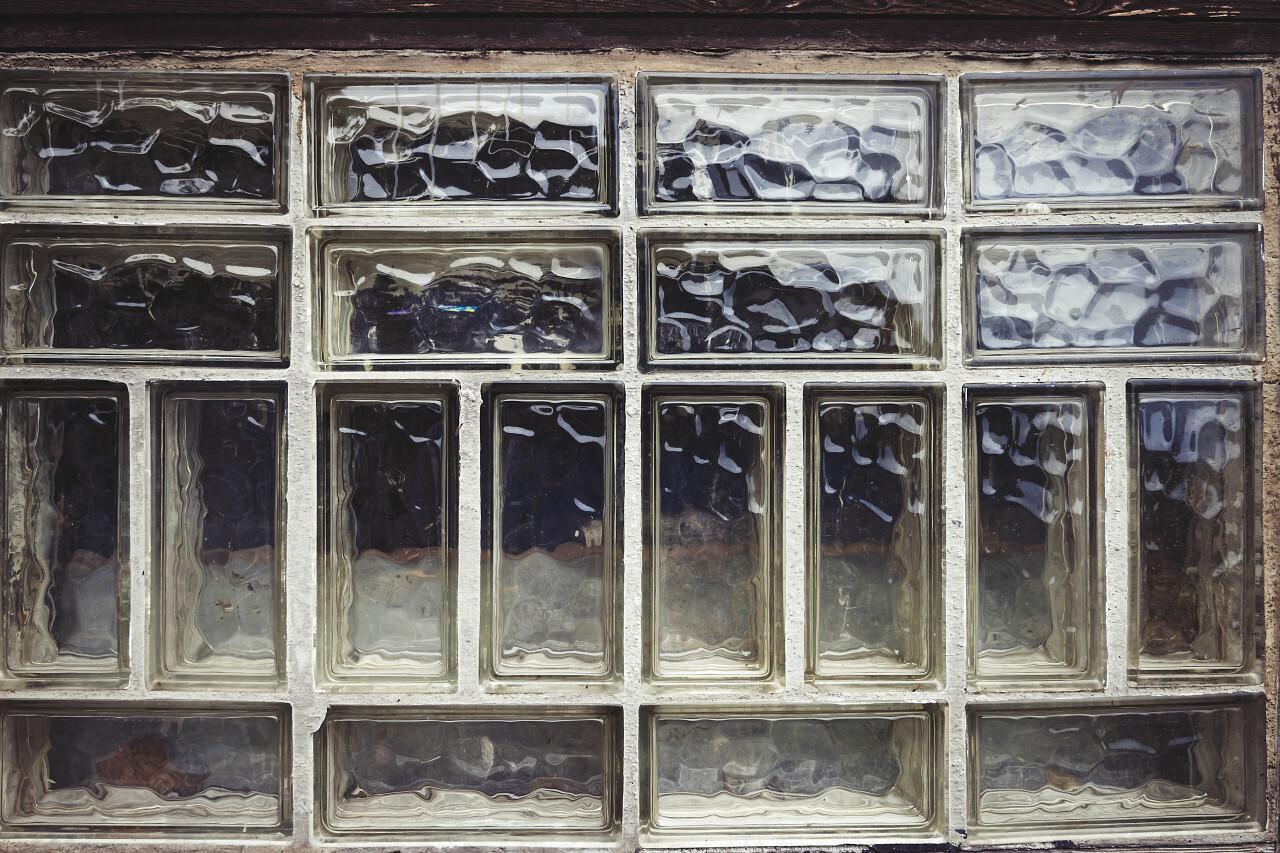 glass brick wall texture