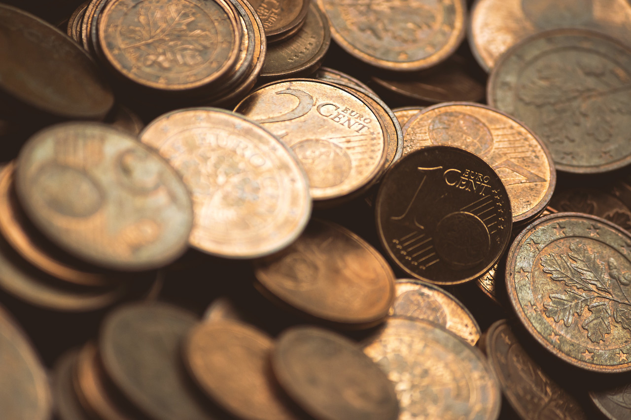 Image full of Euro cents