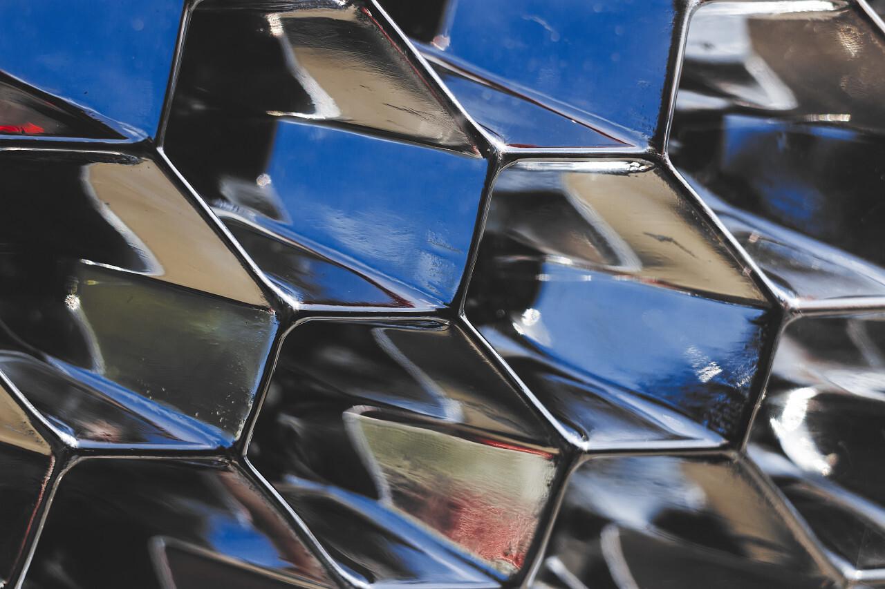 macro shot of car headlight