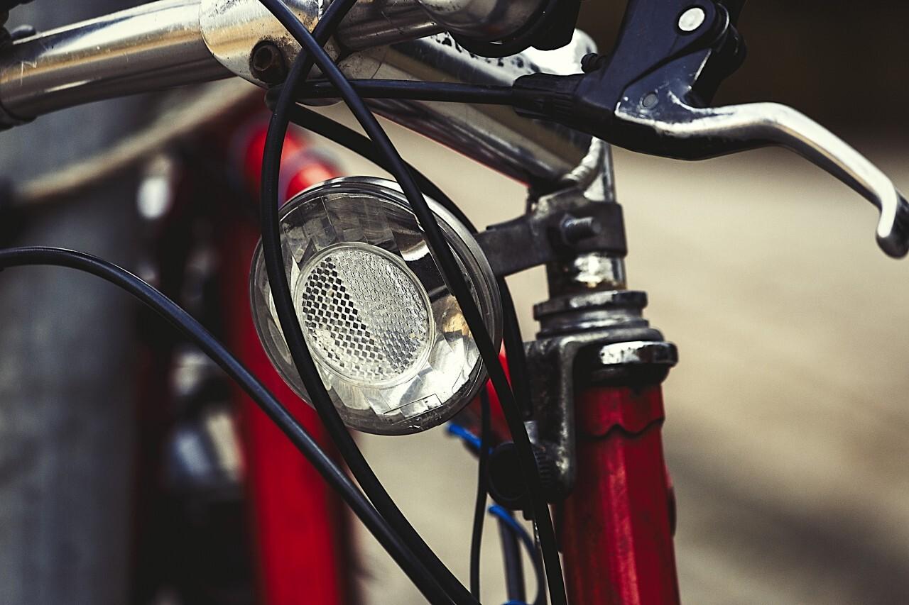 Road bike with head lights