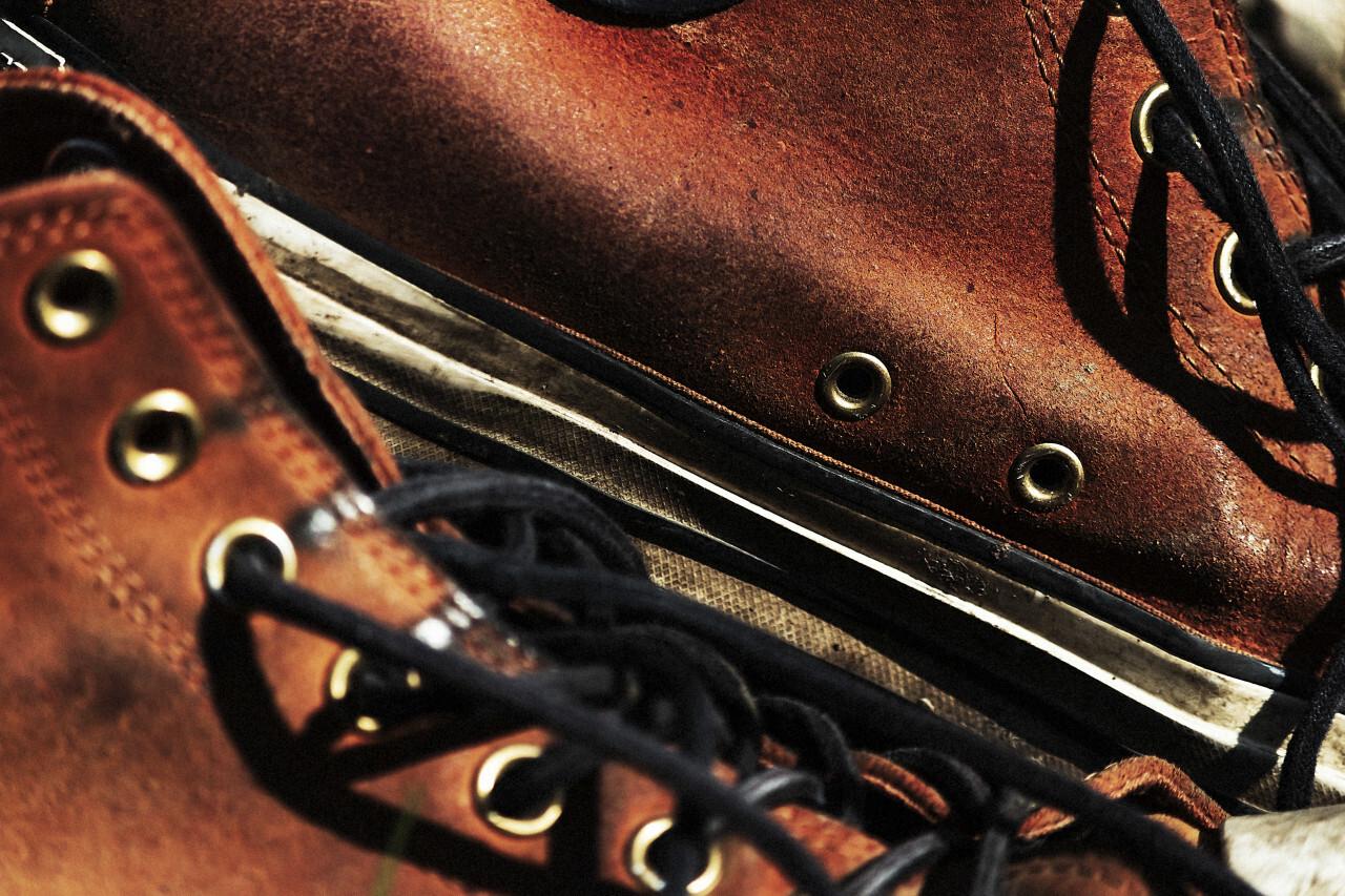old leather vintage shoes