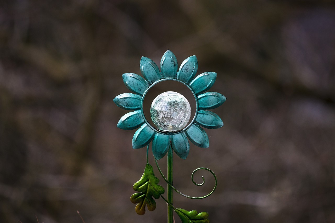 deco flower lamp garden