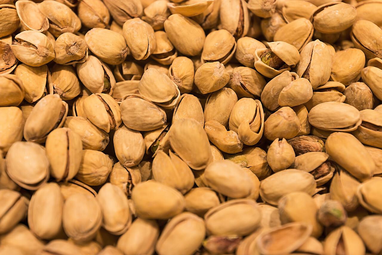 many pistachios