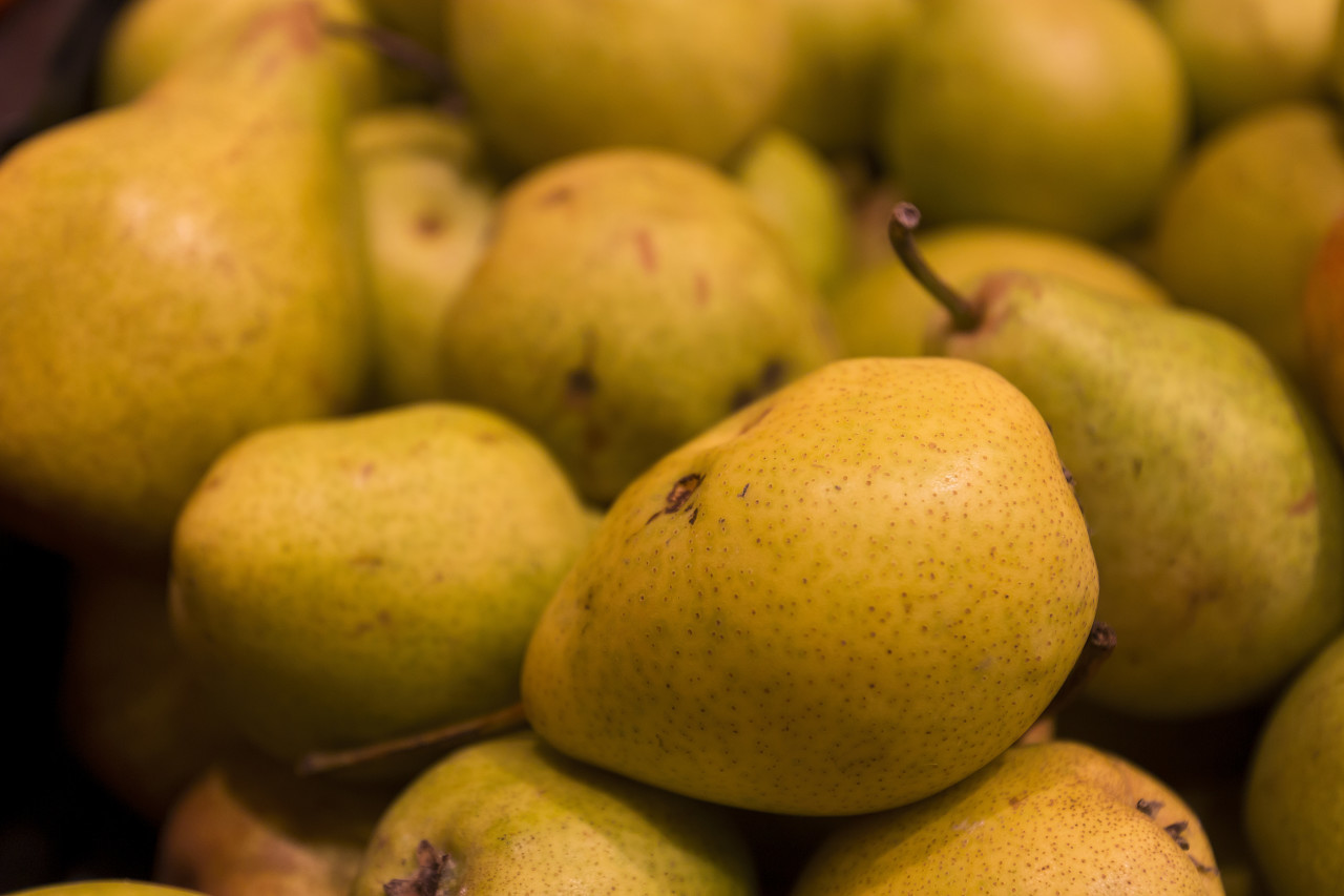 many delicious pears
