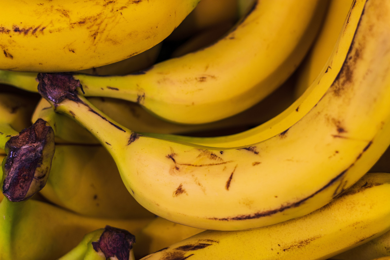 yellow battered bananas background