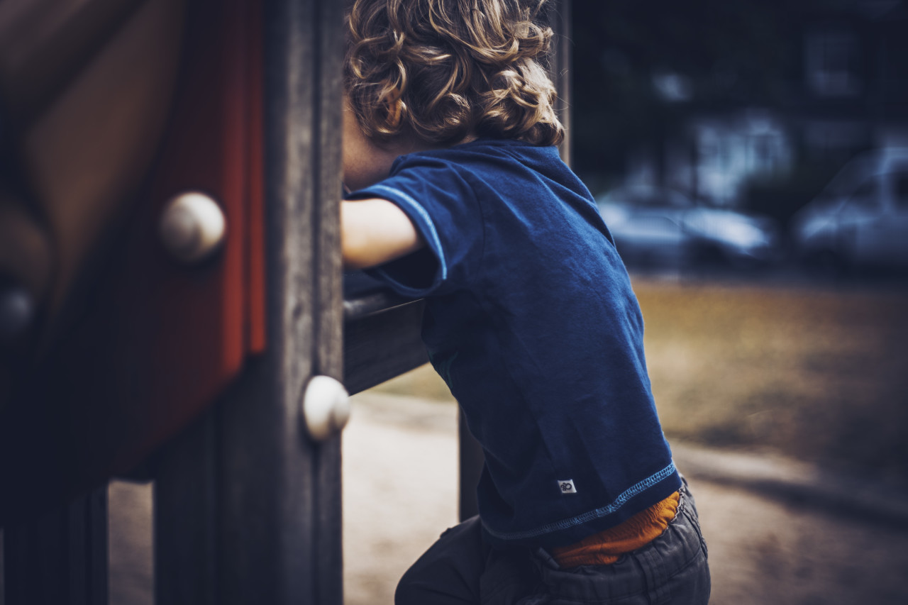 little child on playground