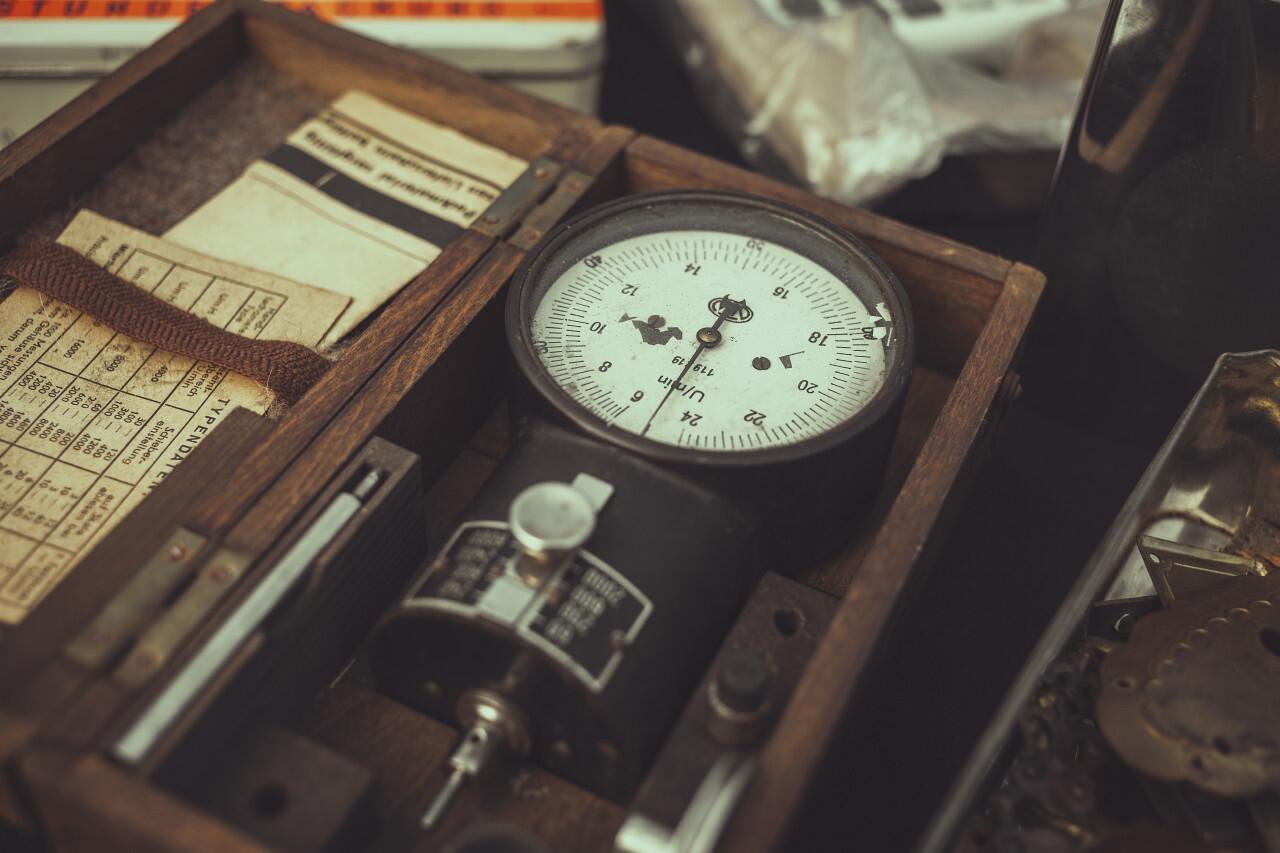 old vintage power measuring instruments