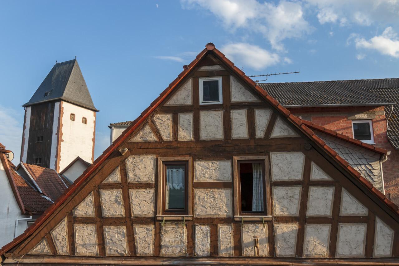 old german timbered house in gelnhausen