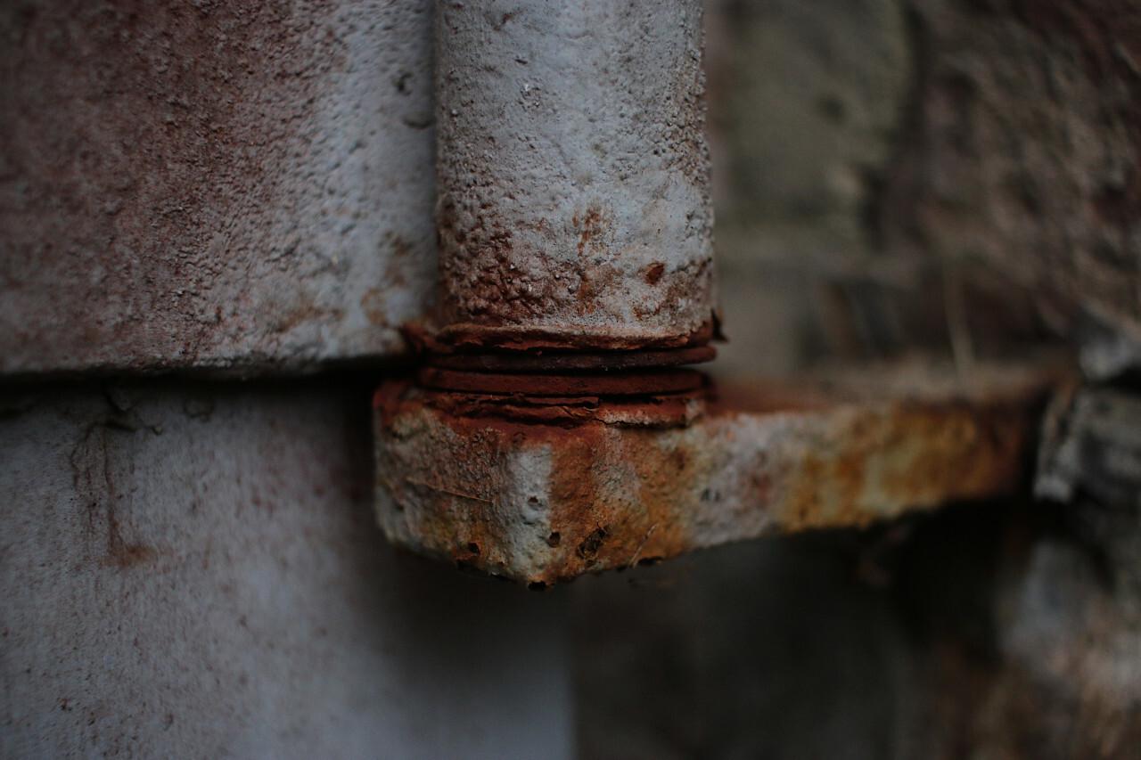 rusty door frame