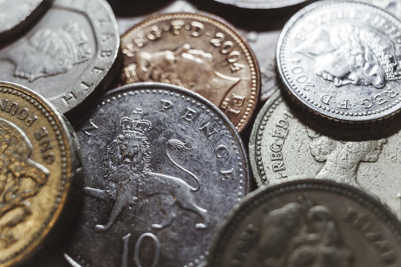 British pound money coin background