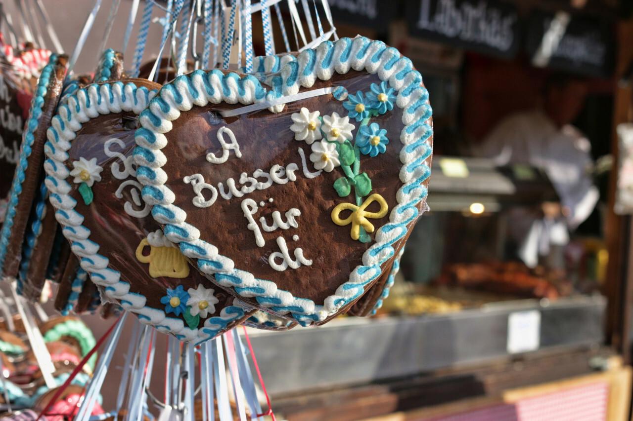 oktoberfest hearts, gingerbread hearts, Lebkuchenherz