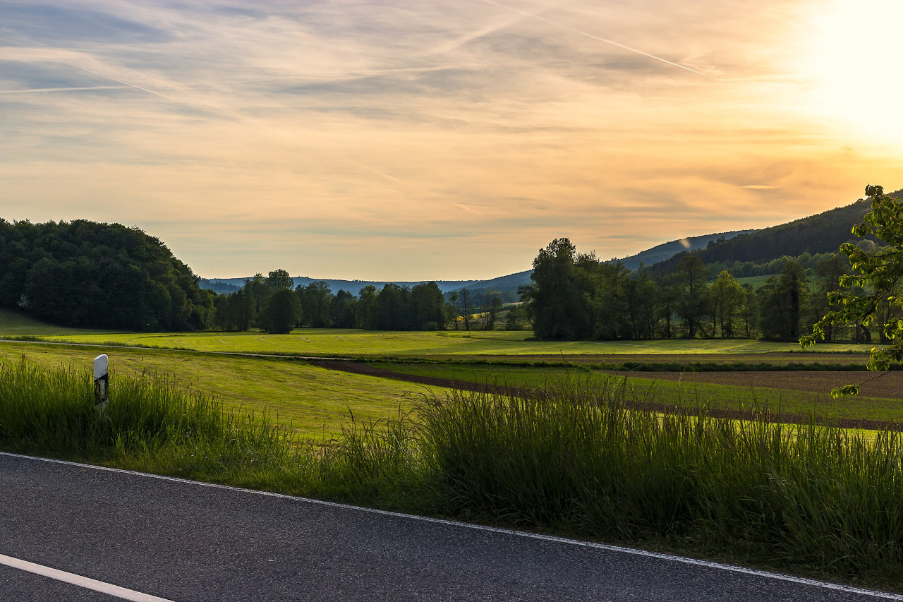 german country road landscape - autobahn