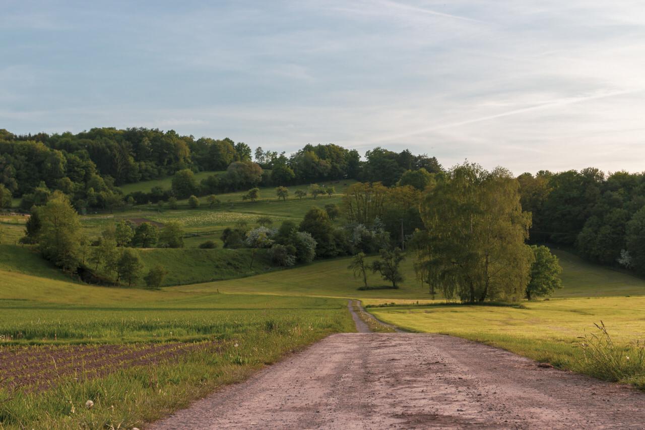beautiful rural landscape somewhere in germany by kassel