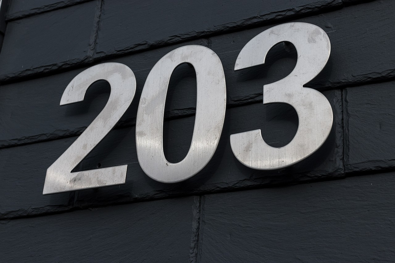 house number 203