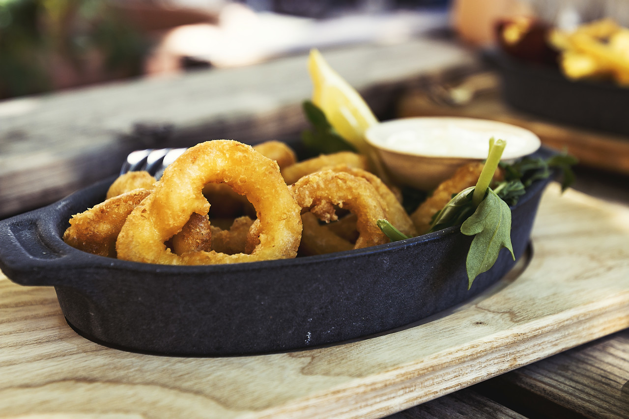 delicious deep fried Calamari Rings