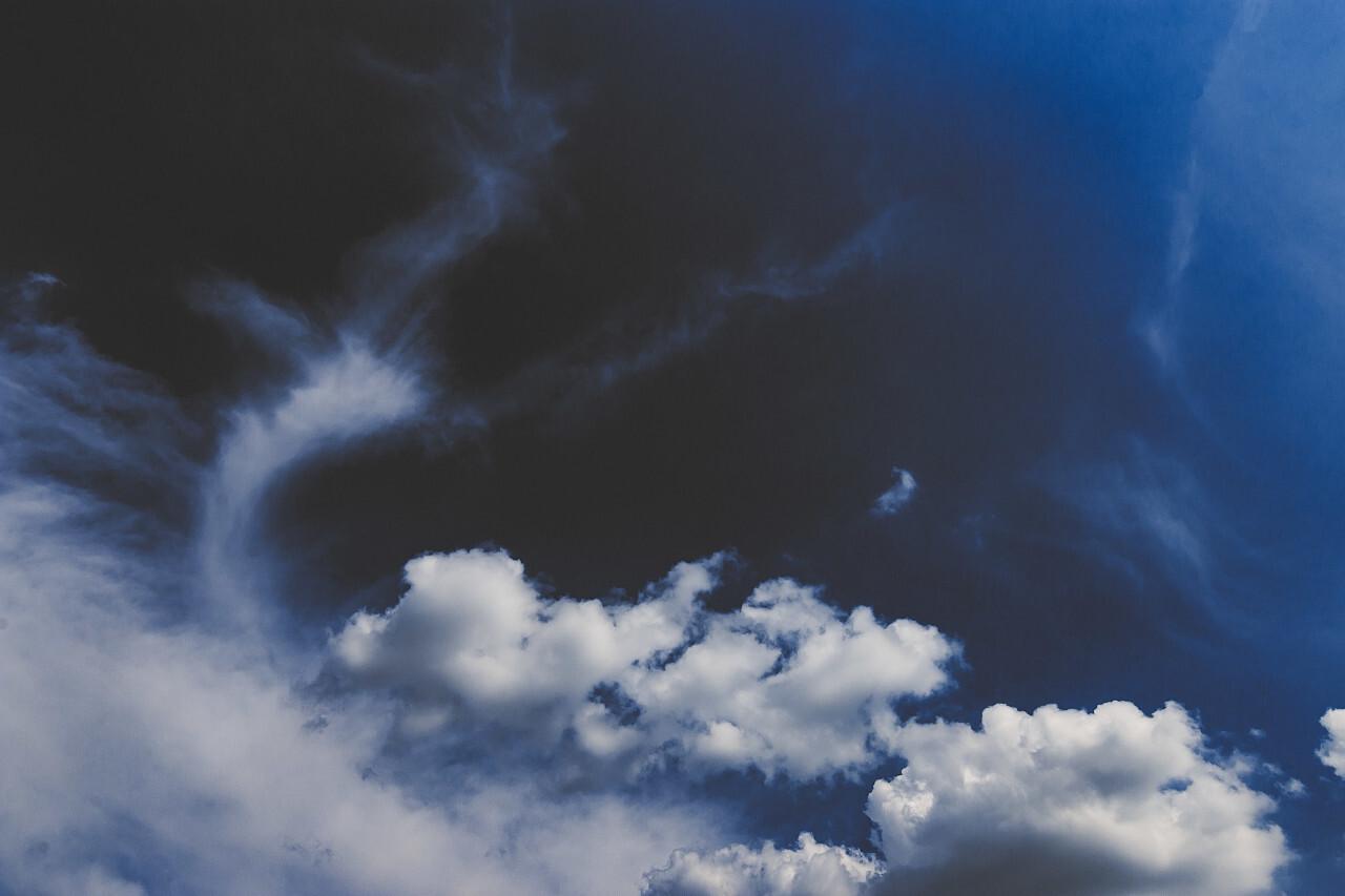 beautiful dark storm clouds