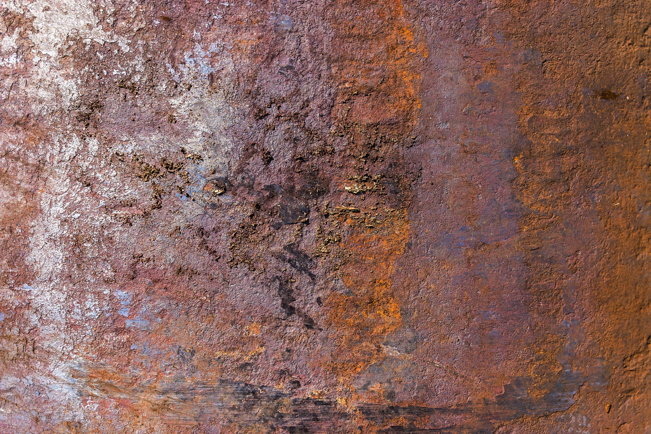 weathered red rusty metal texture