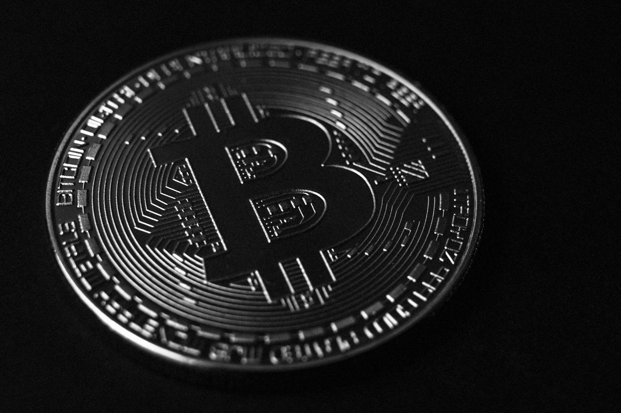 bitcoin black background