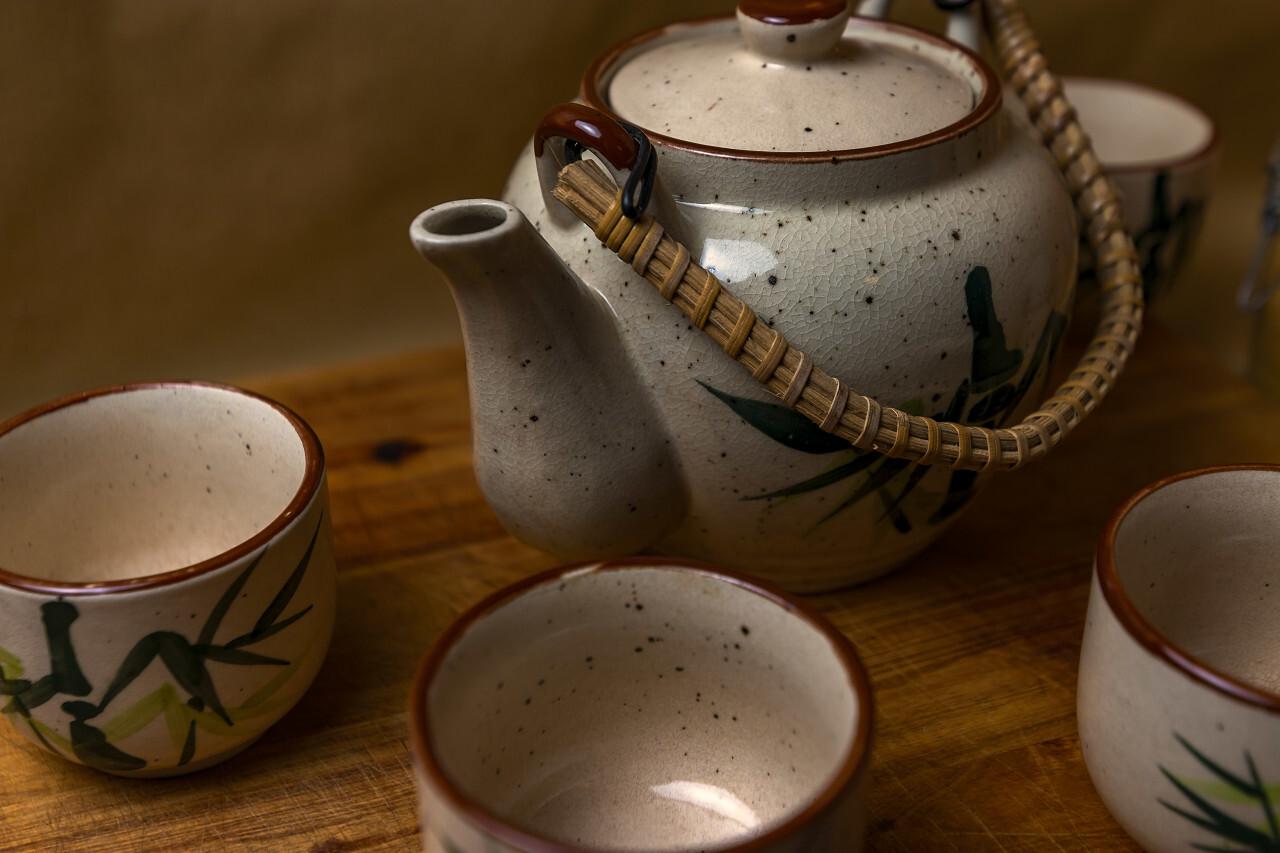 asian tea time - tea pot