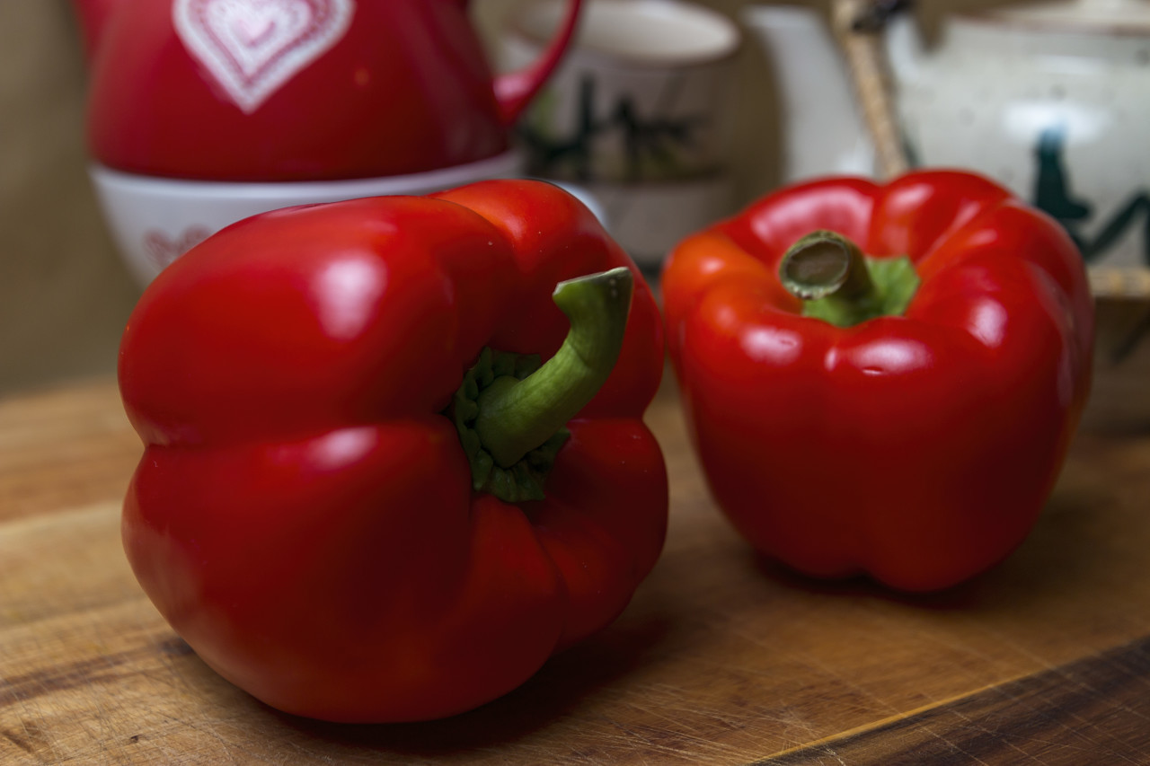 red pepper in the kitchen