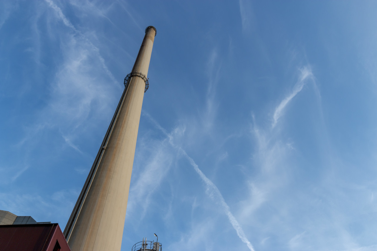 industrial chimney in wuppertal