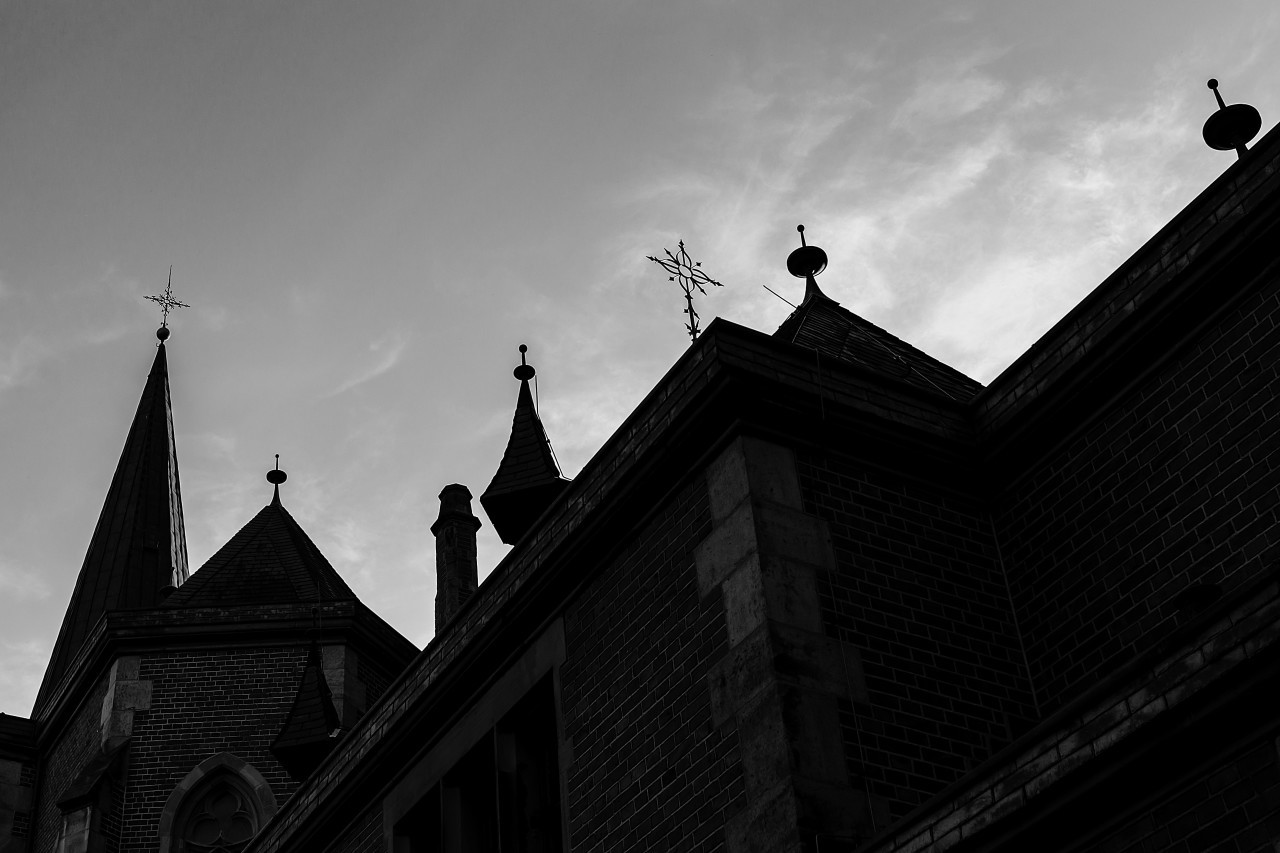 st josephs church wuppertal elberfeld black and white