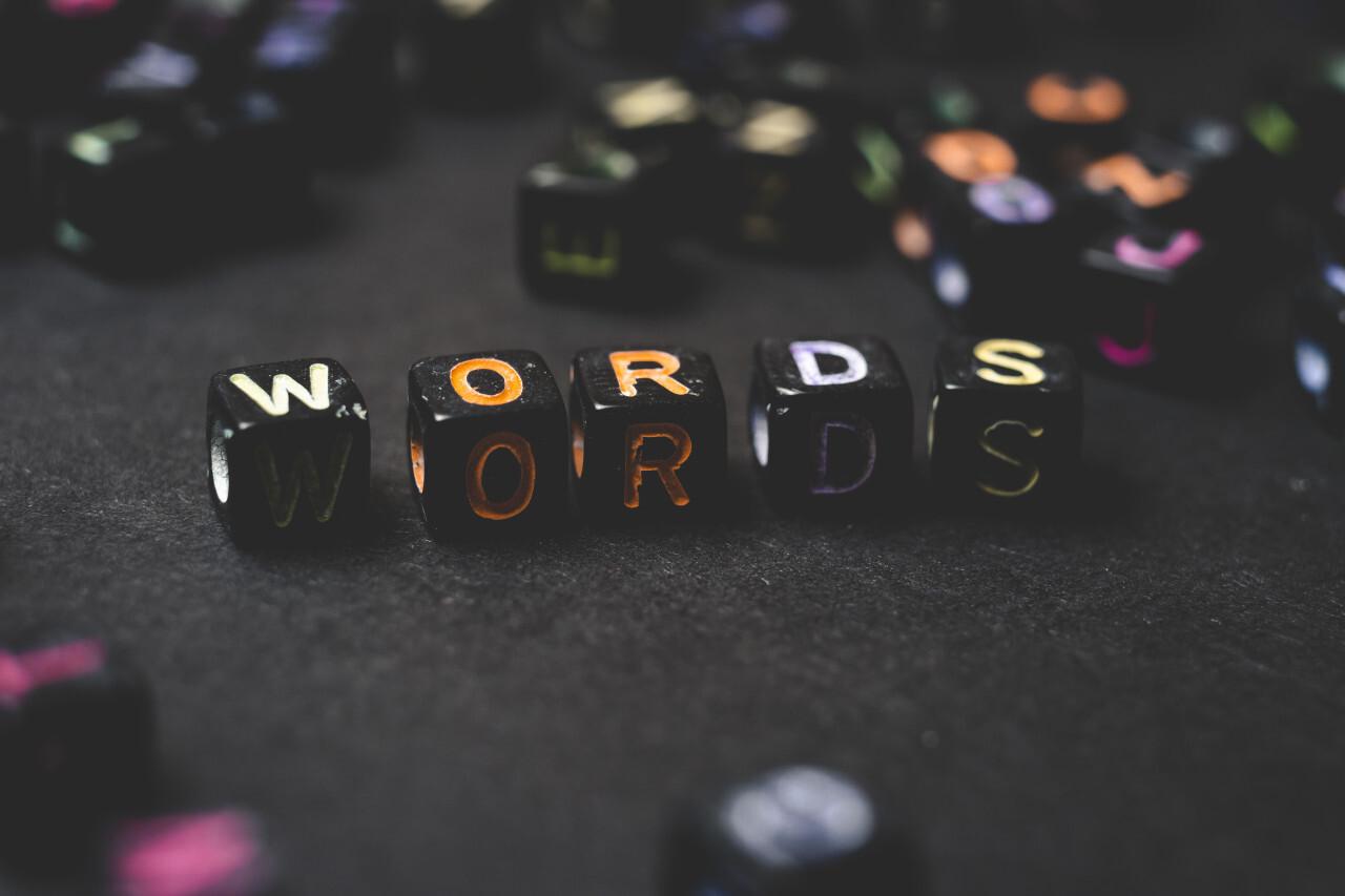 words blocks