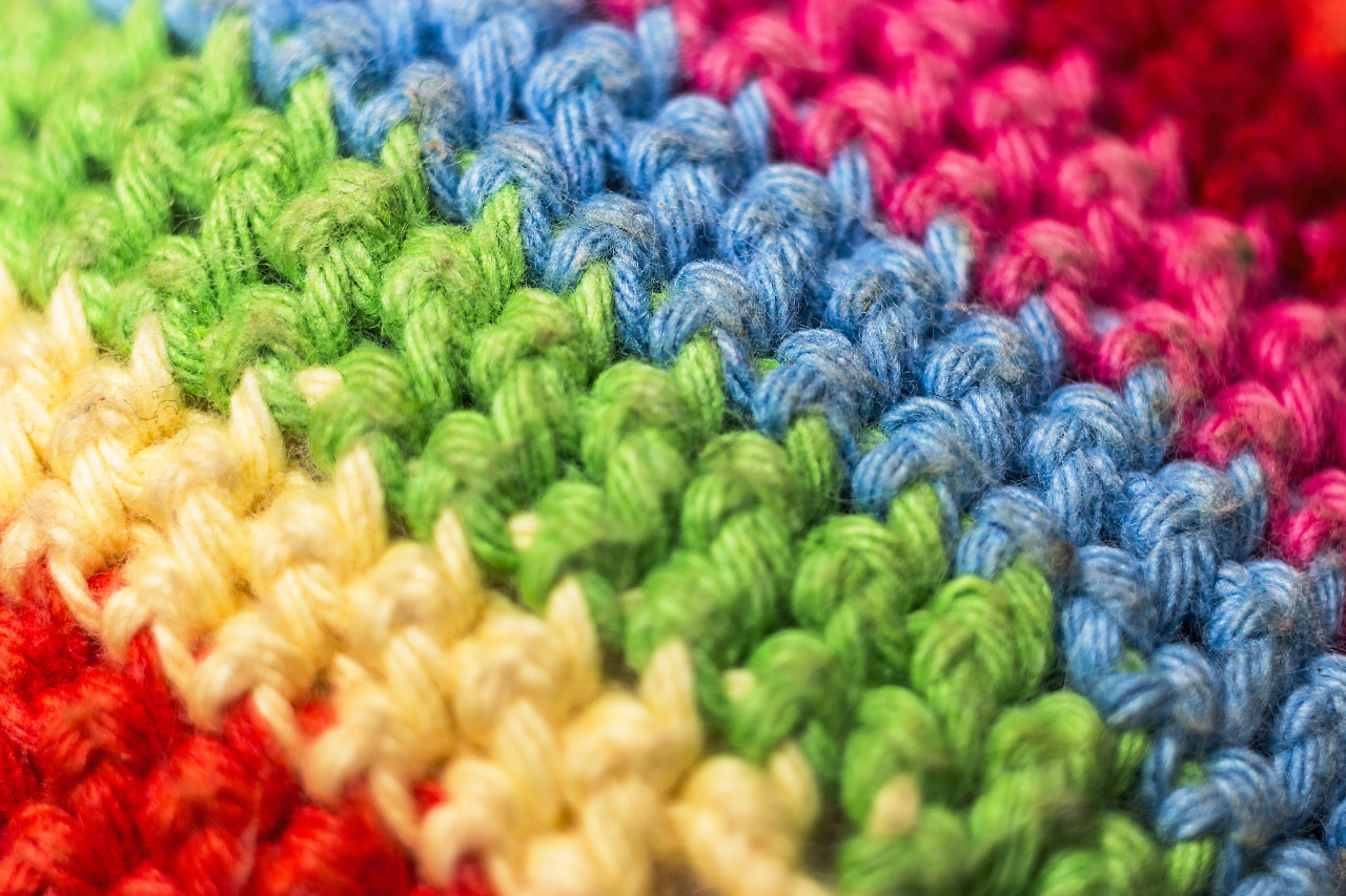 colorful woven fabric
