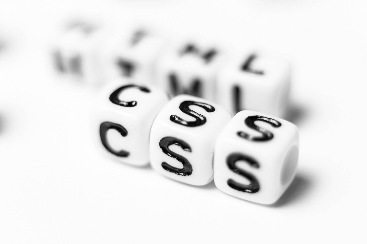 HTML & CSS - bright dice font concept
